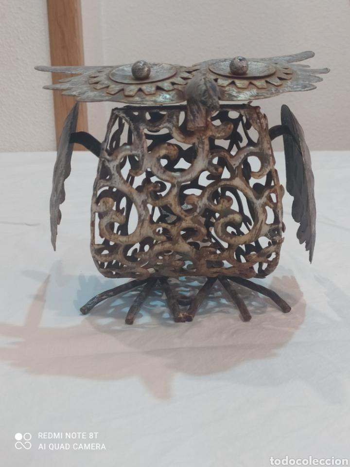 Arte: Antigua figura de hierro (búho) - Foto 4 - 284575688