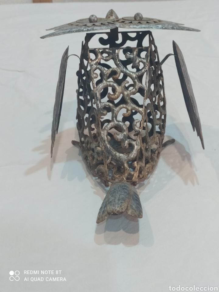Arte: Antigua figura de hierro (búho) - Foto 6 - 284575688