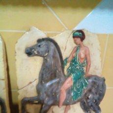 Arte: REPRESENTACION DE AMAZONA GRIEGA BAJO RELIEVE. Lote 285620478