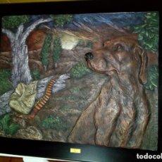 Arte: CUADRO DE ARTE ROMERA DE RESINA DE ALTA DENSIDAD SOBRE PEANA AÑO 1993. Lote 285620848