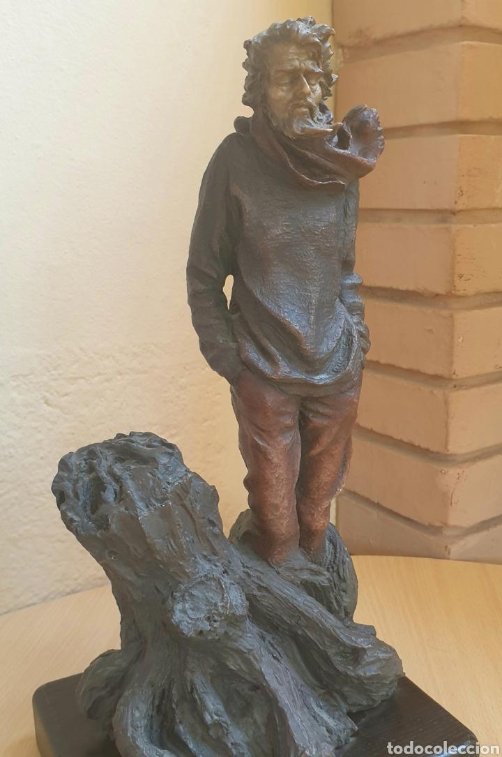Arte: Escultura Resina Policromada Josep Bofill Invierno Firmada y Numerada - Foto 5 - 287116763