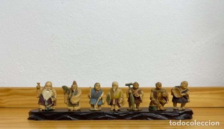 LOTE DE 7 NETSUKES JAPONESES (Arte - Escultura - Marfil)