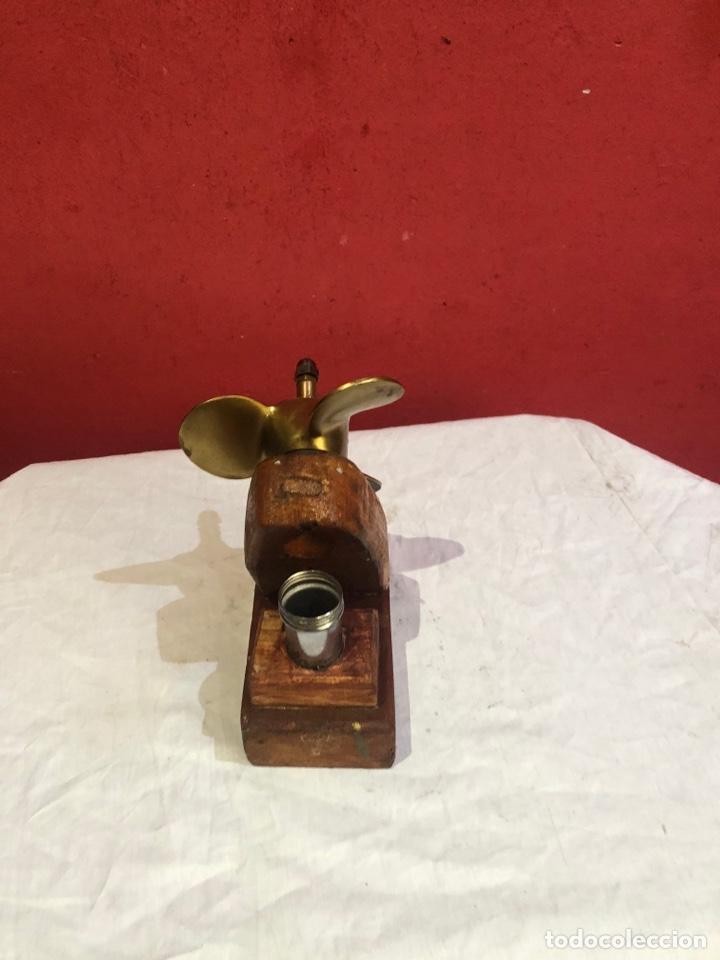 Arte: Escultura Hélice de barco de sobremesa.. Con base de madera.ver las medidas en fotos - Foto 4 - 287461338
