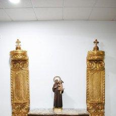 Arte: FRAGMENTOS DE RETABLO TALLADOS Y DORADOS. Lote 287462633