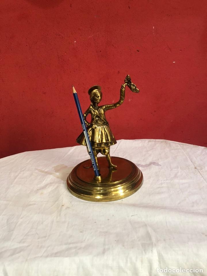 Arte: Preciosa y antigua escultura de bronce . Ver las medidas en fotos - Foto 2 - 287462918