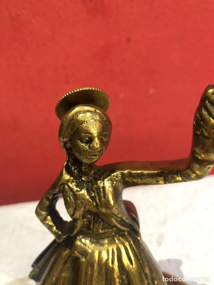 Arte: Preciosa y antigua escultura de bronce . Ver las medidas en fotos - Foto 3 - 287462918