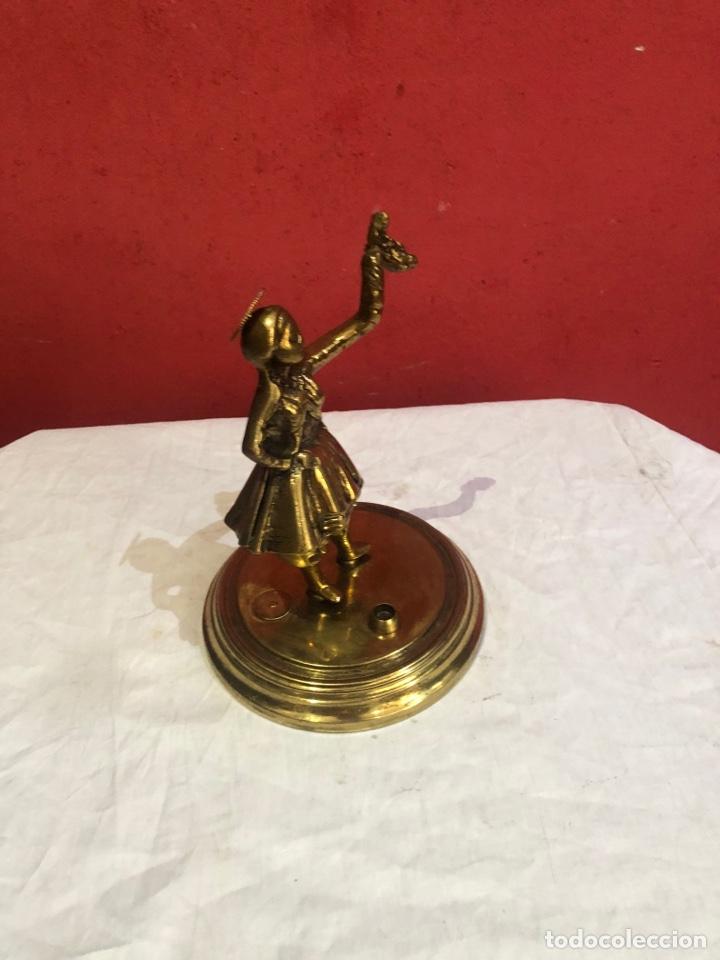 Arte: Preciosa y antigua escultura de bronce . Ver las medidas en fotos - Foto 6 - 287462918