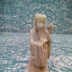 Arte: ANCIANO CHINO TALLADO EN PIEDRA. Lote 287583063