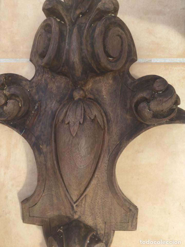 Arte: Copete piña de madera siglo XIX - Foto 3 - 287677778