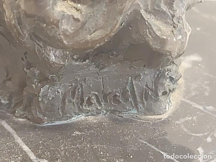 Arte: EL MOLINO A RICARDO ARDEVOL / ESCULTURA RESINA DE BRONCE FIRMADA POR MARCEL N. 35 CM. AÑO 1991 - Foto 5 - 288013428