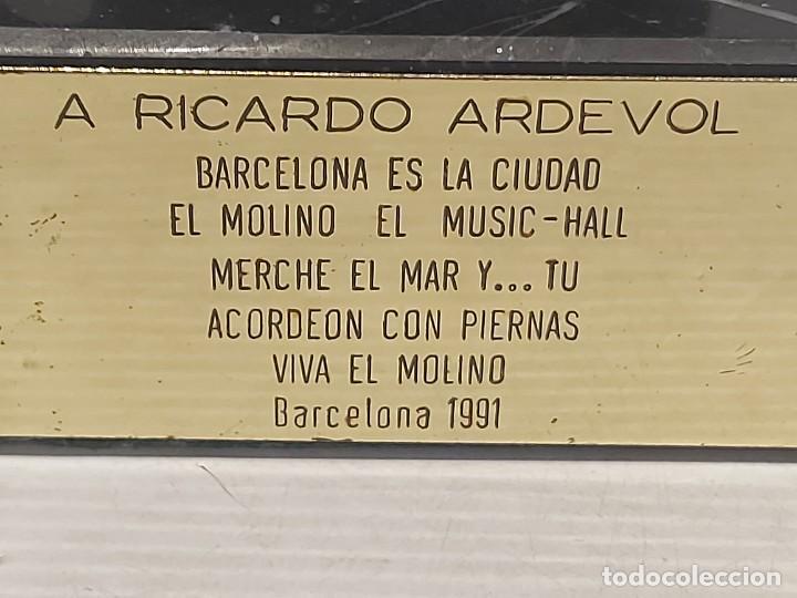 Arte: EL MOLINO A RICARDO ARDEVOL / ESCULTURA RESINA DE BRONCE FIRMADA POR MARCEL N. 35 CM. AÑO 1991 - Foto 6 - 288013428