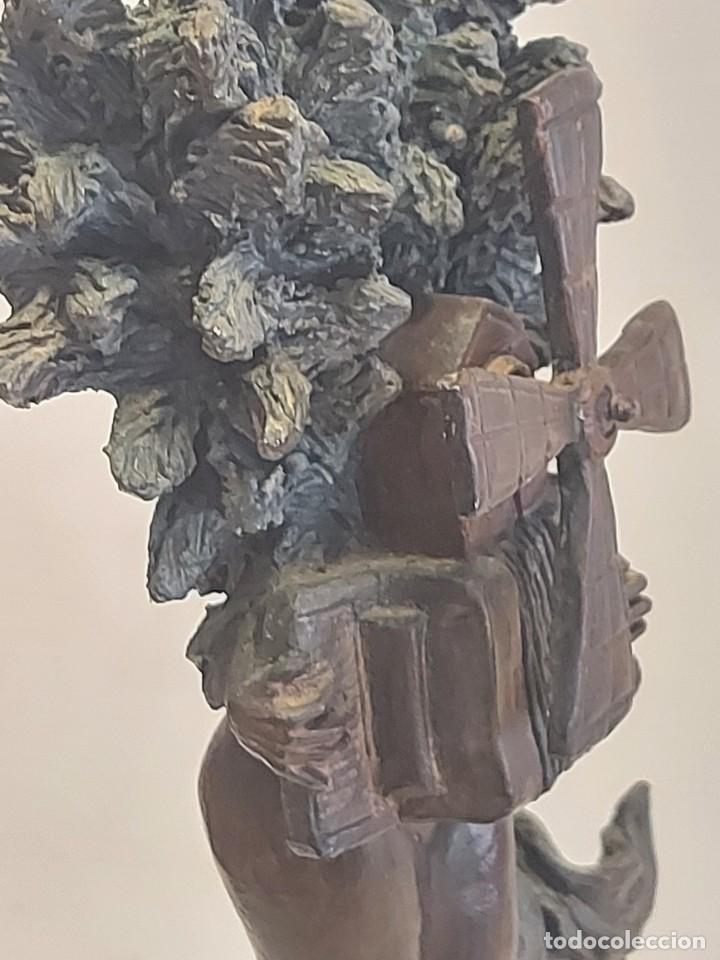 Arte: EL MOLINO A RICARDO ARDEVOL / ESCULTURA RESINA DE BRONCE FIRMADA POR MARCEL N. 35 CM. AÑO 1991 - Foto 14 - 288013428