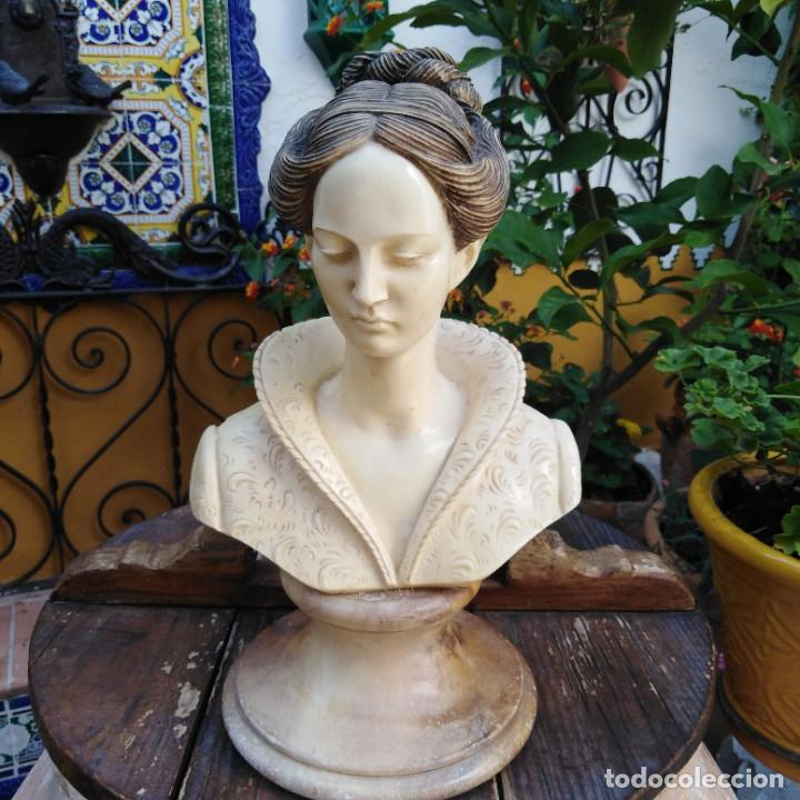 Arte: Antiguo busto en mármol. - Foto 2 - 288041738