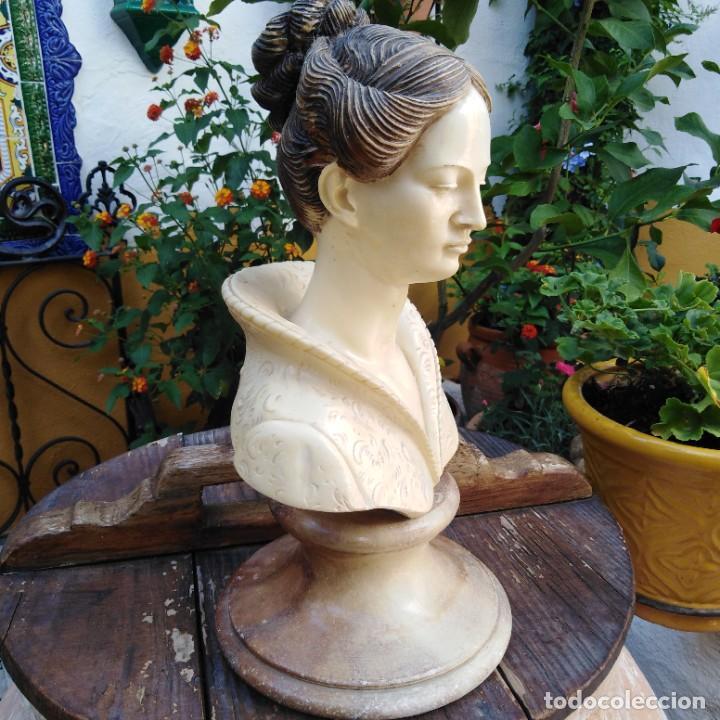 Arte: Antiguo busto en mármol. - Foto 3 - 288041738