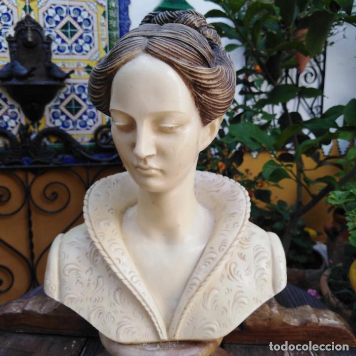 Arte: Antiguo busto en mármol. - Foto 5 - 288041738