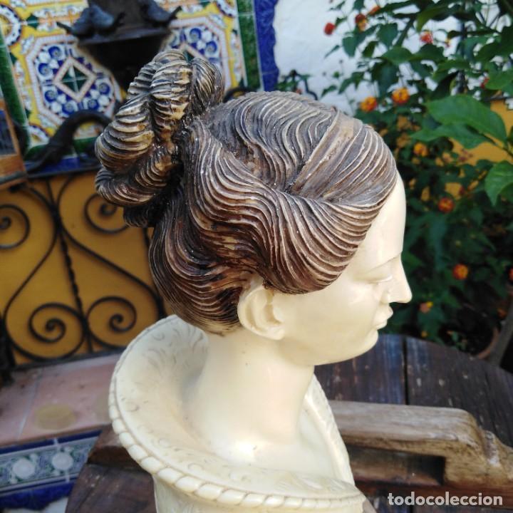Arte: Antiguo busto en mármol. - Foto 8 - 288041738