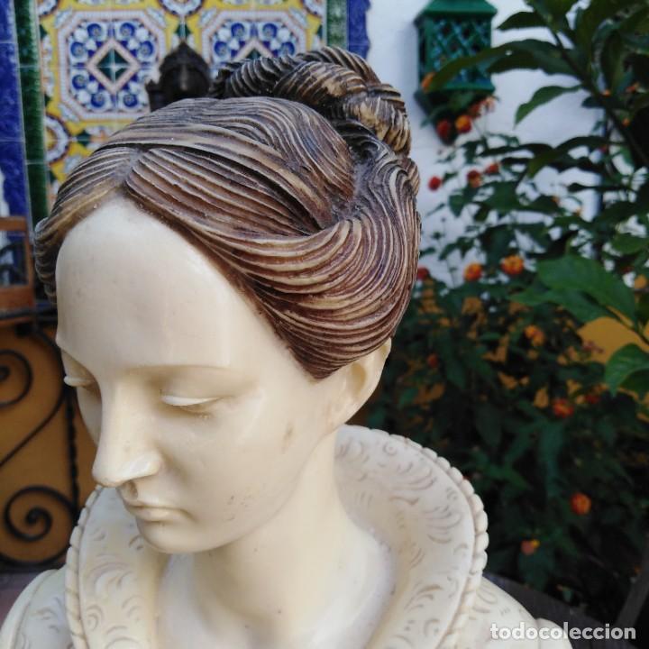 Arte: Antiguo busto en mármol. - Foto 11 - 288041738