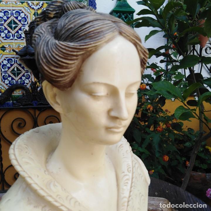 Arte: Antiguo busto en mármol. - Foto 12 - 288041738