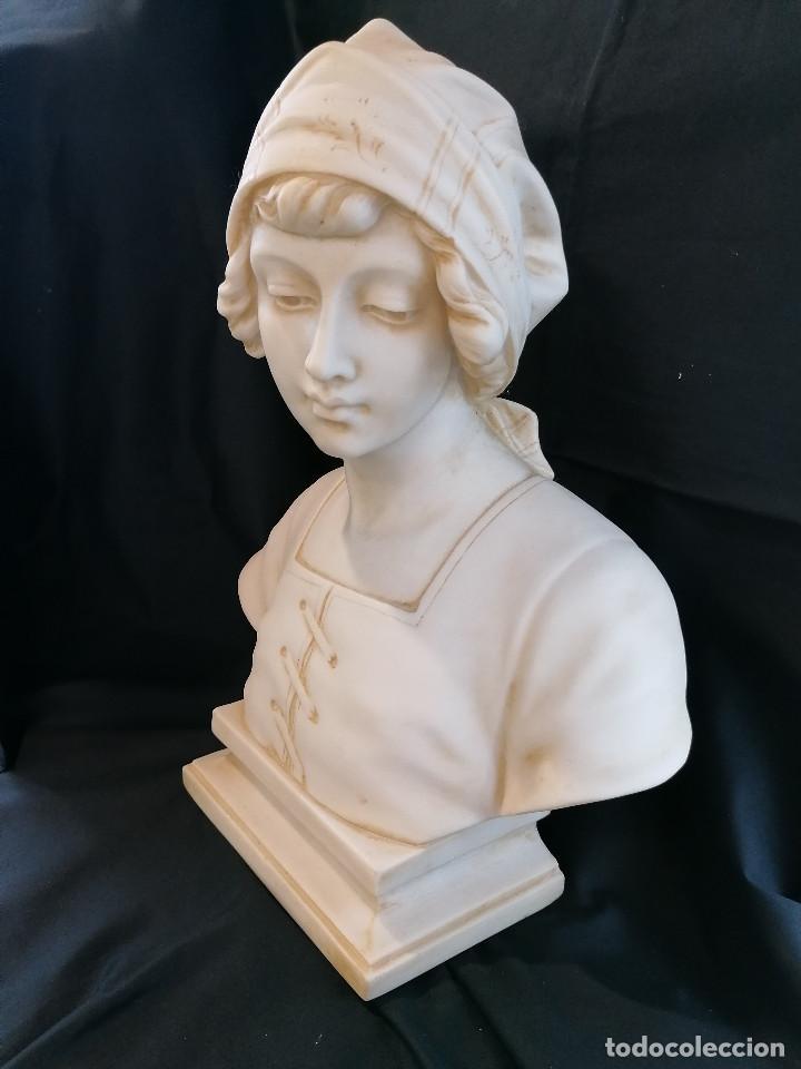 Arte: Escultura Campesina en piedra blanca firmada H Dovoise ENVÍO GRATIS - Foto 5 - 288042958