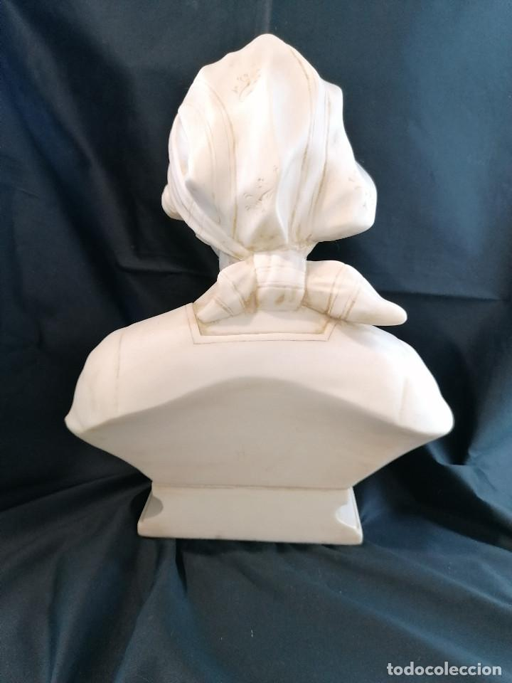 Arte: Escultura Campesina en piedra blanca firmada H Dovoise ENVÍO GRATIS - Foto 6 - 288042958