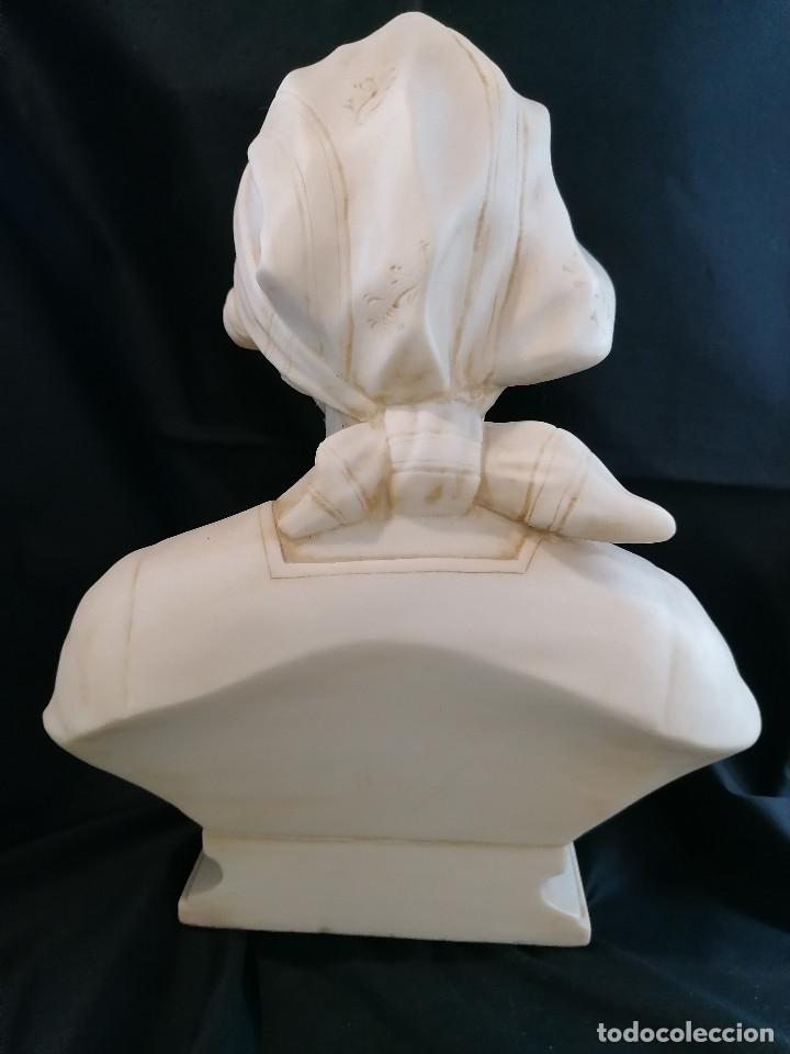 Arte: Escultura Campesina en piedra blanca firmada H Dovoise ENVÍO GRATIS - Foto 7 - 288042958