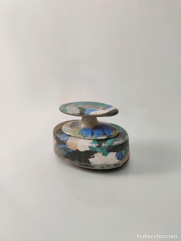 Arte: Jarrón escultura en Cerámica esmaltada por Marciano Buendía - Foto 4 - 288101453