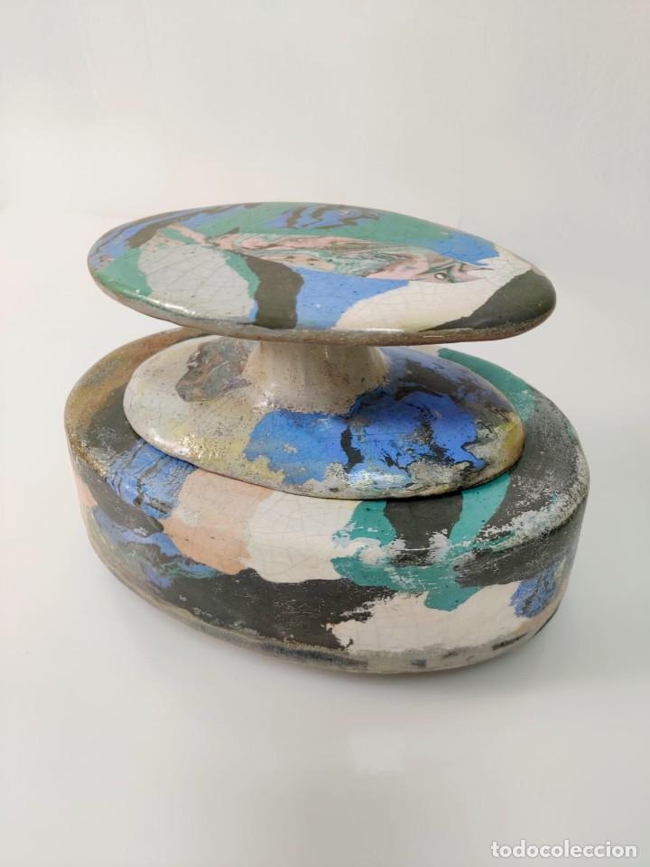 Arte: Jarrón escultura en Cerámica esmaltada por Marciano Buendía - Foto 8 - 288101453
