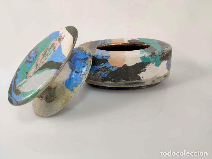 Arte: Jarrón escultura en Cerámica esmaltada por Marciano Buendía - Foto 3 - 288101453