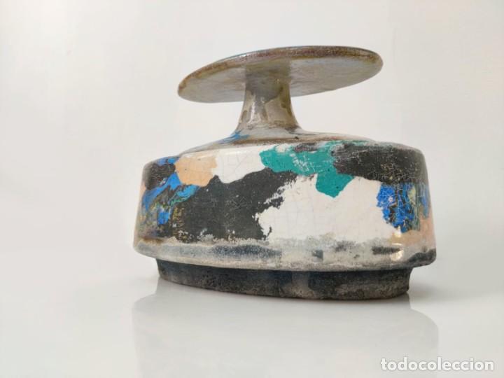 Arte: Jarrón escultura en Cerámica esmaltada por Marciano Buendía - Foto 2 - 288101453