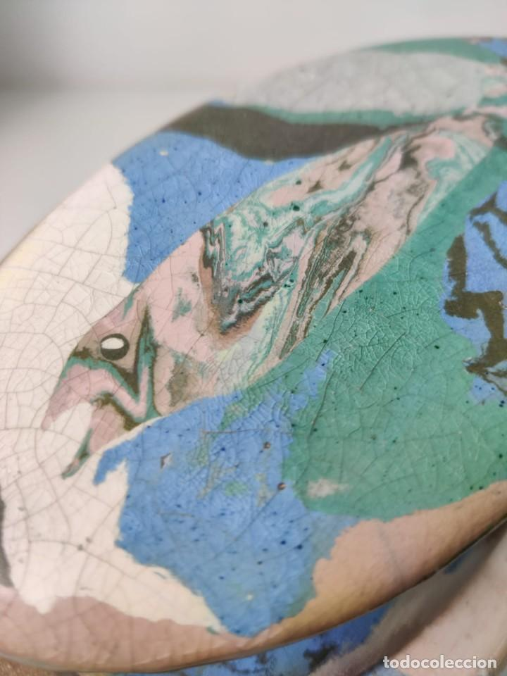 Arte: Jarrón escultura en Cerámica esmaltada por Marciano Buendía - Foto 10 - 288101453
