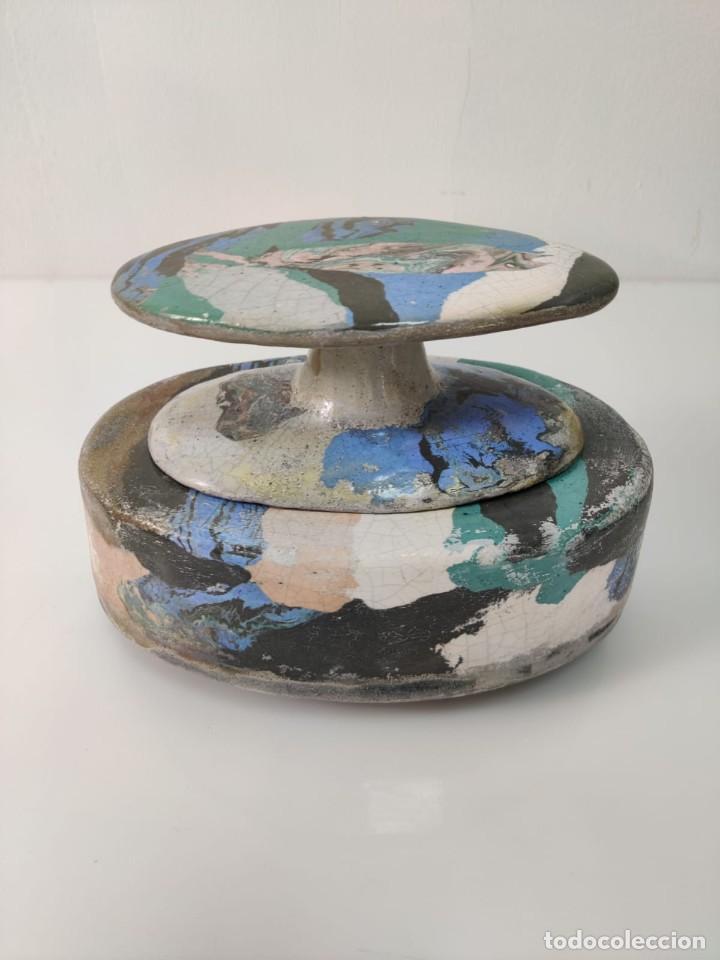 Arte: Jarrón escultura en Cerámica esmaltada por Marciano Buendía - Foto 6 - 288101453
