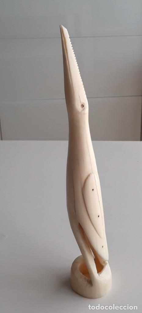 AVE DE MARFIL ANTIGUA. 21,3 CM. (Arte - Escultura - Marfil)