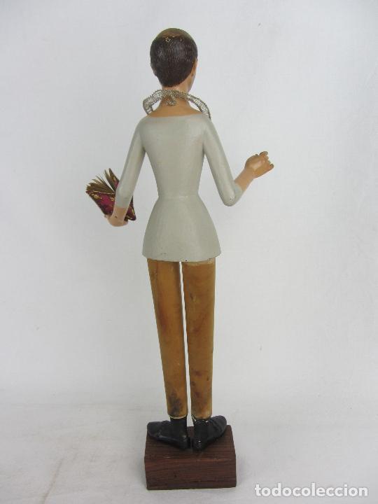 """Arte: Figura de """"cap i pota"""" de San Carlos Borromeo, del siglo XIX - Foto 10 - 288676858"""