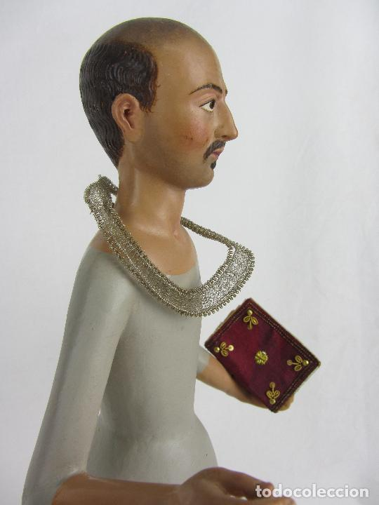 """Arte: Figura de """"cap i pota"""" de San Carlos Borromeo, del siglo XIX - Foto 14 - 288676858"""