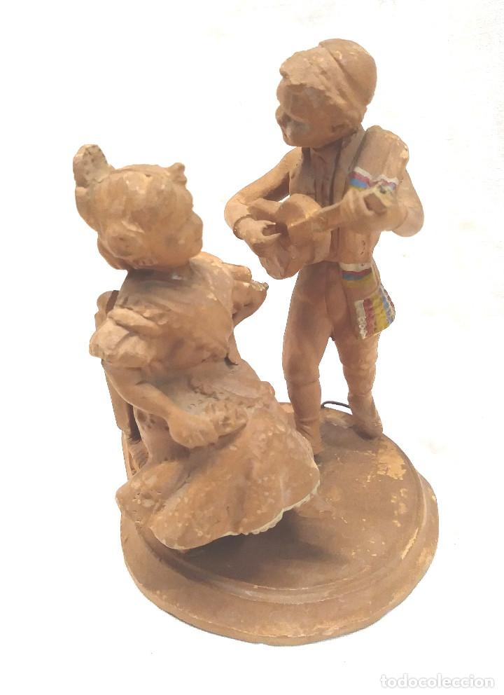 FALLEROS VALENCIA TERRACOTA BARRO DE J. LÓPEZ BORRAS. MED. 10 CM (Arte - Escultura - Terracota )