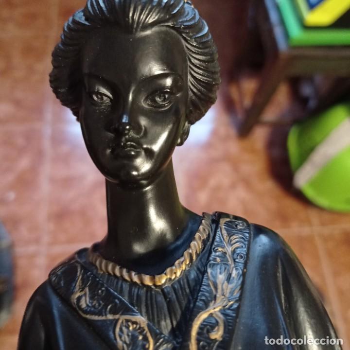 Arte: figura gheisa resina peana de marmol gran fineza artesania baixerre - Foto 6 - 288858903