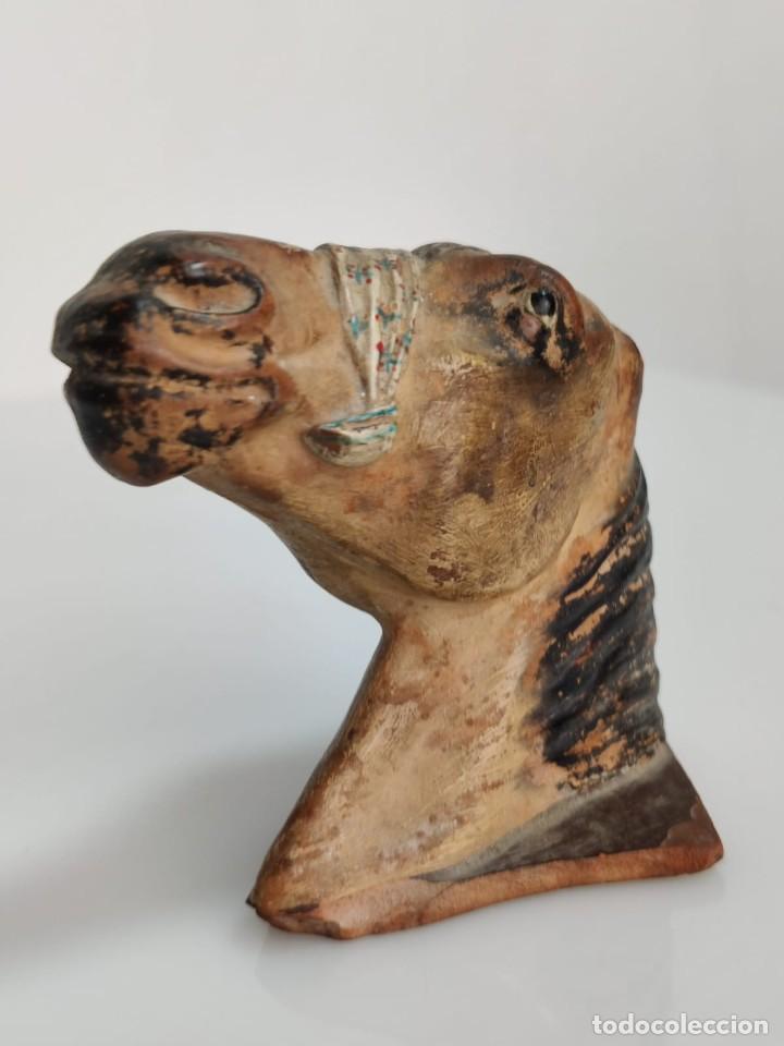 Arte: Busto en terracota de caballo con pañuelo, picador o bandolero. Atribuido Cubero - Foto 3 - 288930313