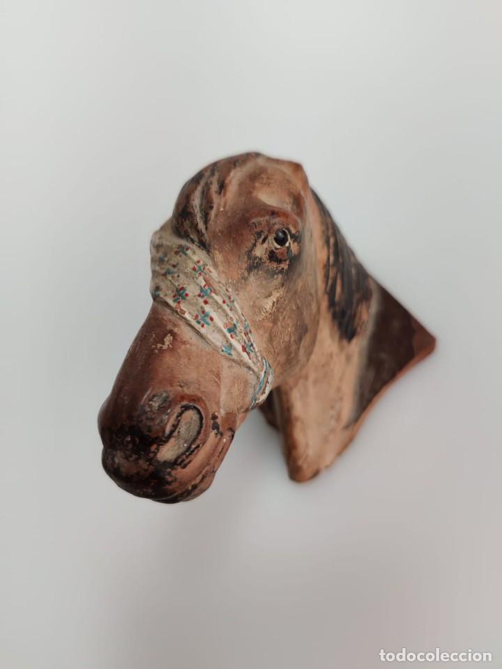 Arte: Busto en terracota de caballo con pañuelo, picador o bandolero. Atribuido Cubero - Foto 4 - 288930313