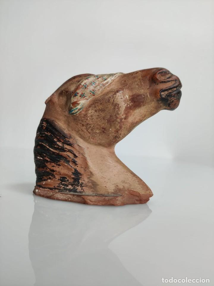 Arte: Busto en terracota de caballo con pañuelo, picador o bandolero. Atribuido Cubero - Foto 12 - 288930313