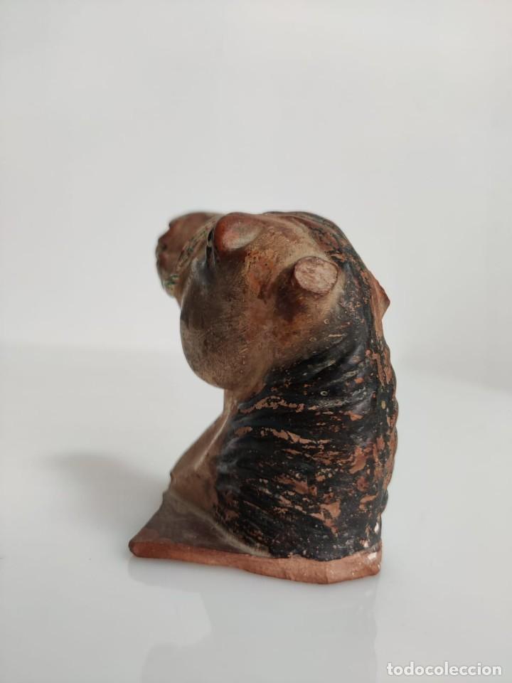 Arte: Busto en terracota de caballo con pañuelo, picador o bandolero. Atribuido Cubero - Foto 13 - 288930313