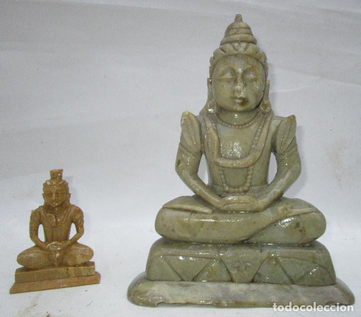 Arte: Pareja de Budas en marmol tallado ideal decoracion chill out etnica - Foto 3 - 289011578