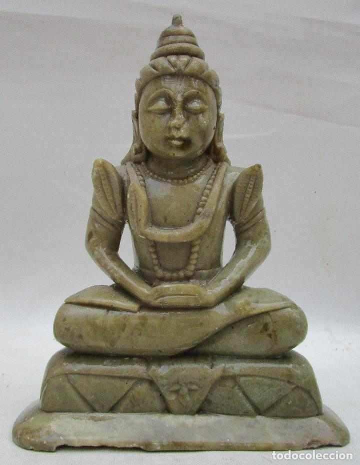 Arte: Pareja de Budas en marmol tallado ideal decoracion chill out etnica - Foto 4 - 289011578