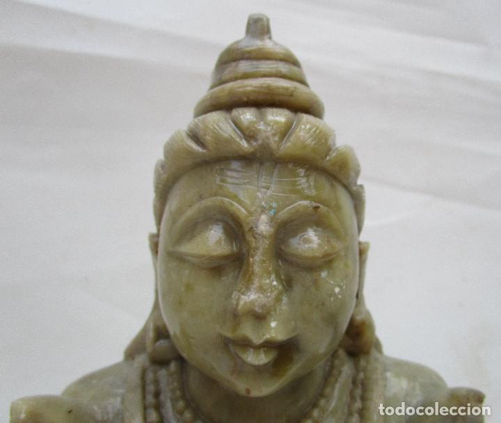 Arte: Pareja de Budas en marmol tallado ideal decoracion chill out etnica - Foto 5 - 289011578