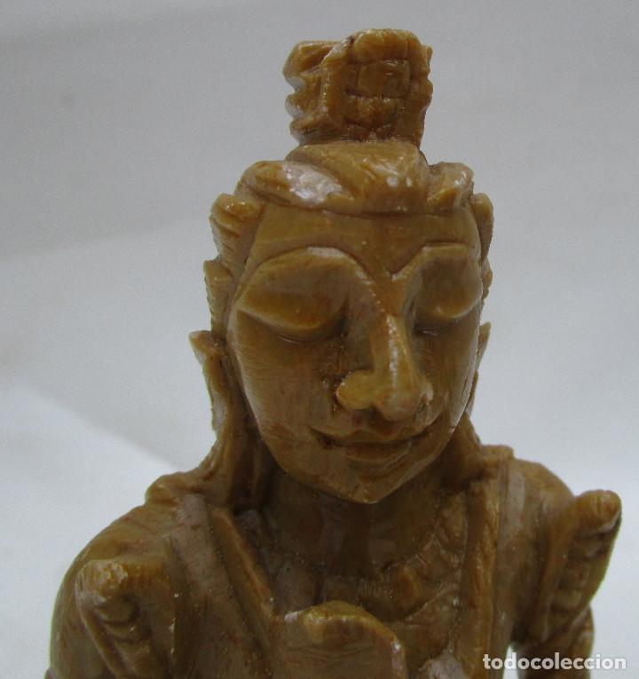 Arte: Pareja de Budas en marmol tallado ideal decoracion chill out etnica - Foto 6 - 289011578