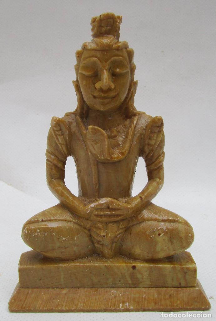 Arte: Pareja de Budas en marmol tallado ideal decoracion chill out etnica - Foto 7 - 289011578