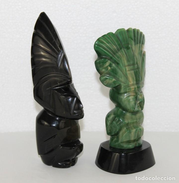 Arte: Pareja de Dioses de México aztecas tallados a mano - Foto 2 - 289326193