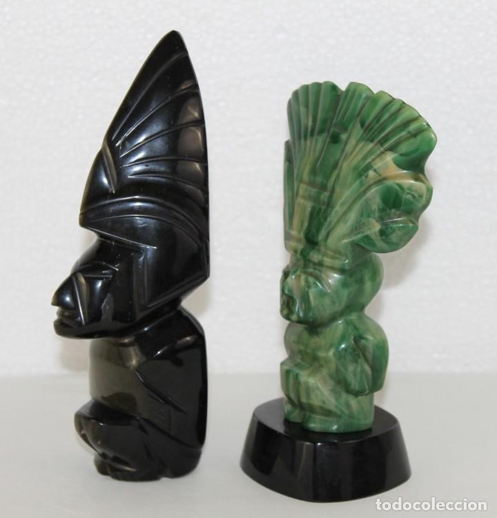 Arte: Pareja de Dioses de México aztecas tallados a mano - Foto 3 - 289326193