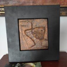Arte: ARCADI (ARCADIO) BLASCO (1928-2013) ESCULTURA, PIEZA ÚNICA. MEDIDA TOTAL 34X32CM + LIBRO. Lote 289584508