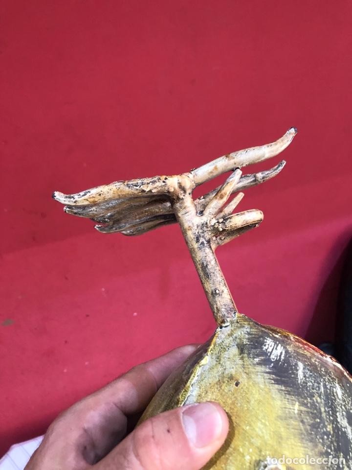 Arte: Figura o escultura gallo metal pintado a mano medidas (40x20 cm ) ver fotos - Foto 12 - 289596488
