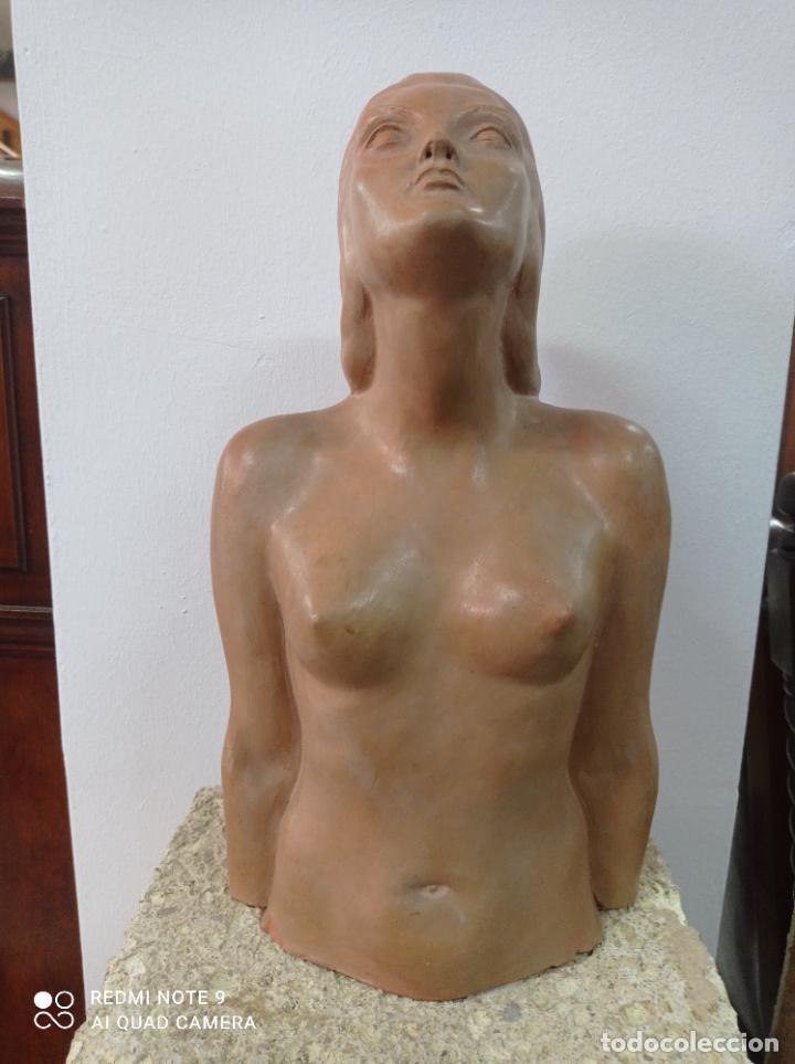 Arte: Escultura en terracota del escultor canario Enrique Cejas Zaldívar. Canarias - Foto 2 - 289651903